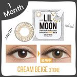 LILMOON CREAM BEIGE 1MONTH 度なし/度あり